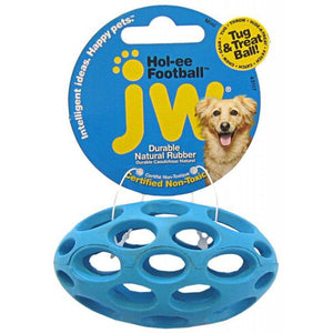 "JW Pet Hol-ee Football Rubber Dog Toy Mini (3.75"" Long) - All Pets Store"