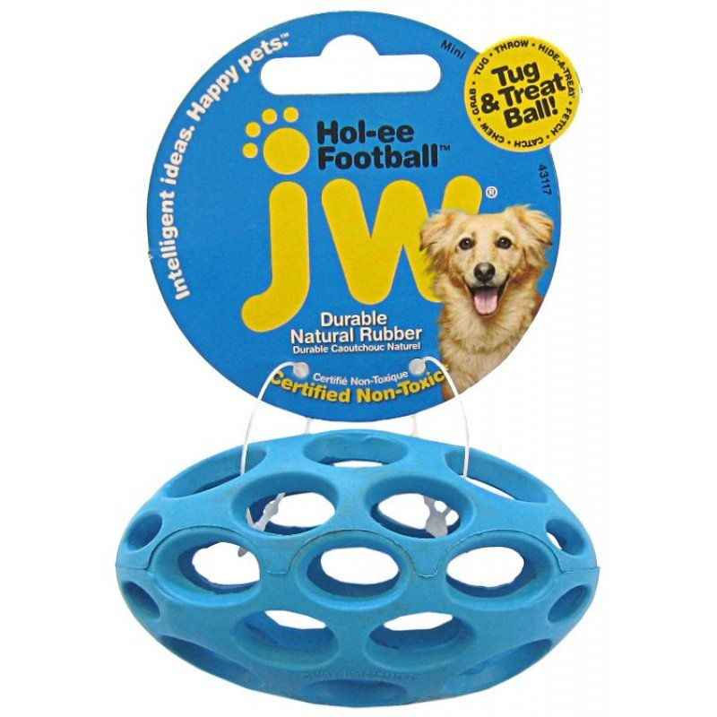 JW Pet Hol-ee Football Rubber Dog Toy Mini (3.75