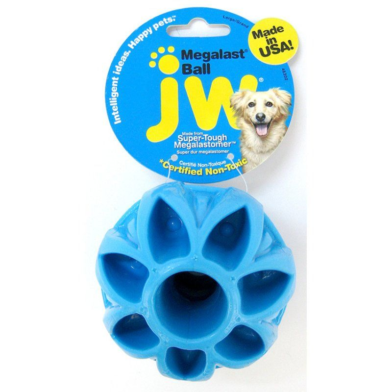 "JW Pet Megalast Rubber Dog Toy - Ball Large - 4"" Diameter - All Pets Store"