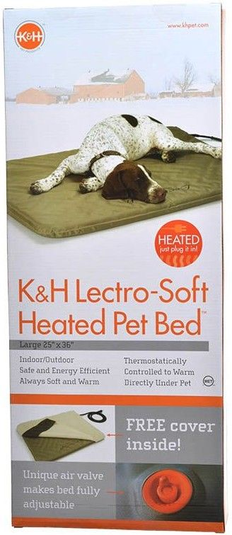 "K&H Pet Products Lectro Soft Heating Bed - Indoor/Outdoor Large - 36""L x 25""W x 1.5""H - All Pets Store"