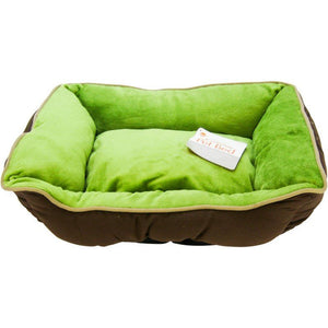 "K&H Pet Products Self Warming Sleeper Lounge - Mocha & Green Small (16"" Long x 20"" Wide) - All Pets Store"