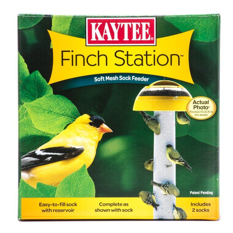 "Kaytee Finch Station Sock Feeder 6"" Diameter x 21"" Tall - All Pets Store"