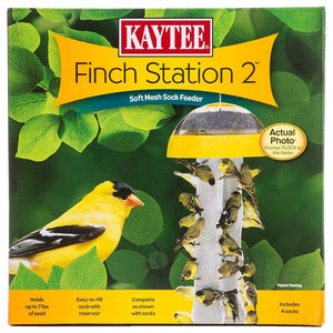 "Kaytee Finch Station 2 Sock Feeder 9-1/8"" Diameter x 21"" Tall - All Pets Store"