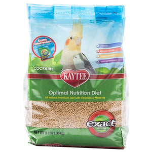 Kaytee Exact Optimal Nutrition Diet Natural Cockatiel Diet 3 lbs - All Pets Store