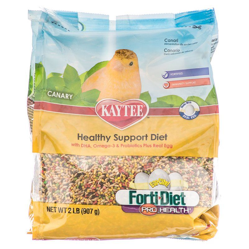 Kaytee Forti-Diet Pro Health Egg-Cite! Canary Food 2 lbs - All Pets Store