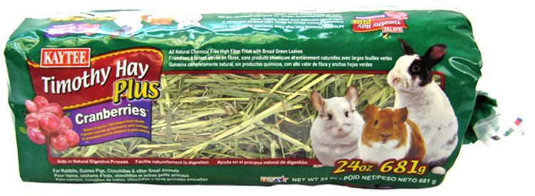 Kaytee Timothy Hay Plus Cranberries - Small Animals 24 oz - All Pets Store