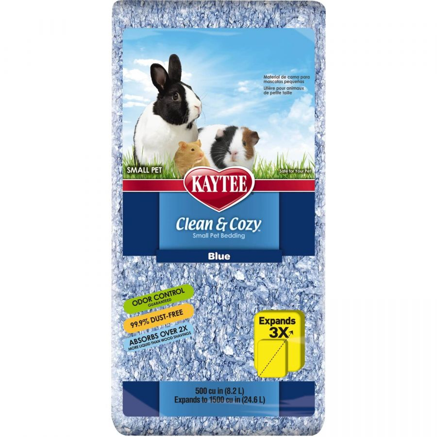 Kaytee Clean & Cozy Small Pet Bedding - Blue 500 Cubic Inches - All Pets Store
