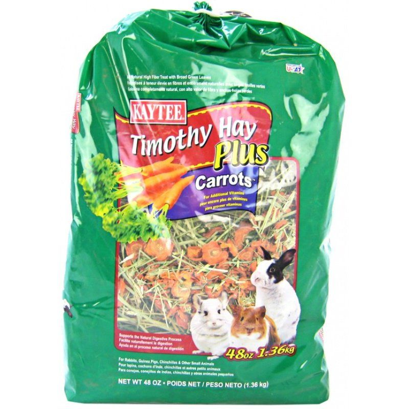 Kaytee Timothy Hay Plus Carrots 48 oz - All Pets Store