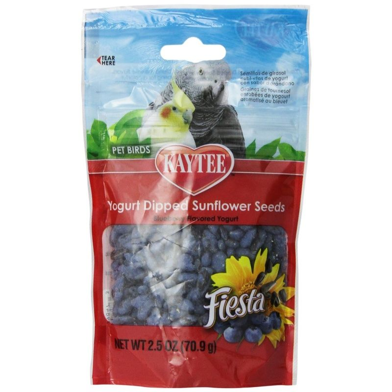 Kaytee Fiesta Yogurt Dipped Sunflower Seeds - Blueberry 2.5 oz - All Pets Store