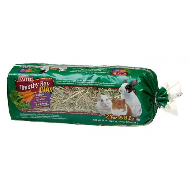 Kaytee Timothy Hay Plus Carrots 24 oz - All Pets Store