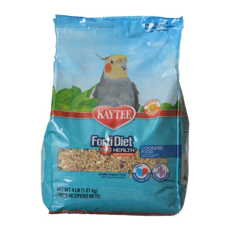 Kaytee Forti-Diet Pro Health Cockatiel Food with Safflower 4 lbs - All Pets Store