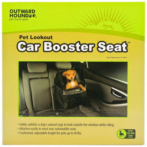 Outward Hound Car Booster Seat - Black Small (For Dogs under 10 lbs) - All Pets Store
