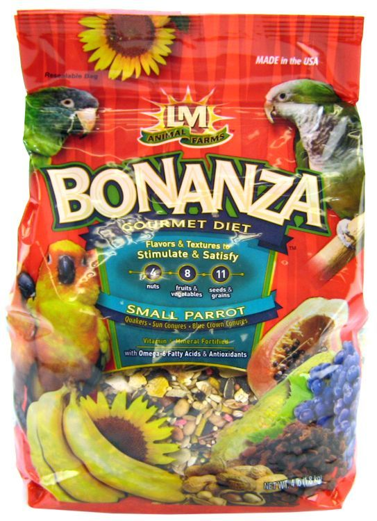 LM Animal Farms Bonanza Small Parrot Gourmet Diet 4 lbs - All Pets Store