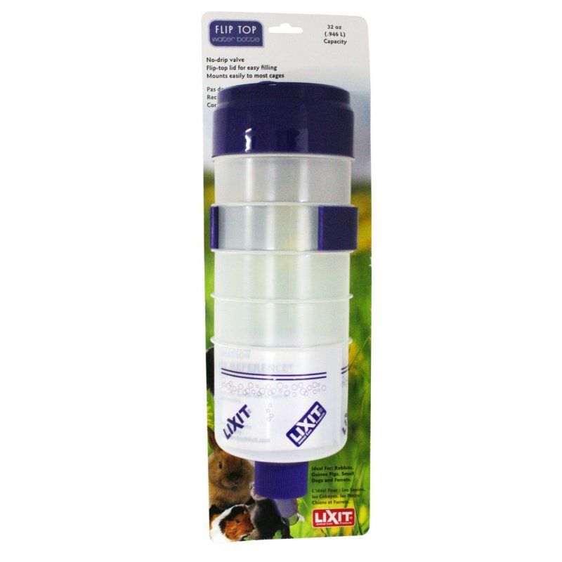 Lixit Quick Lock Flip Top Water Bottle with Valve 32 oz - All Pets Store