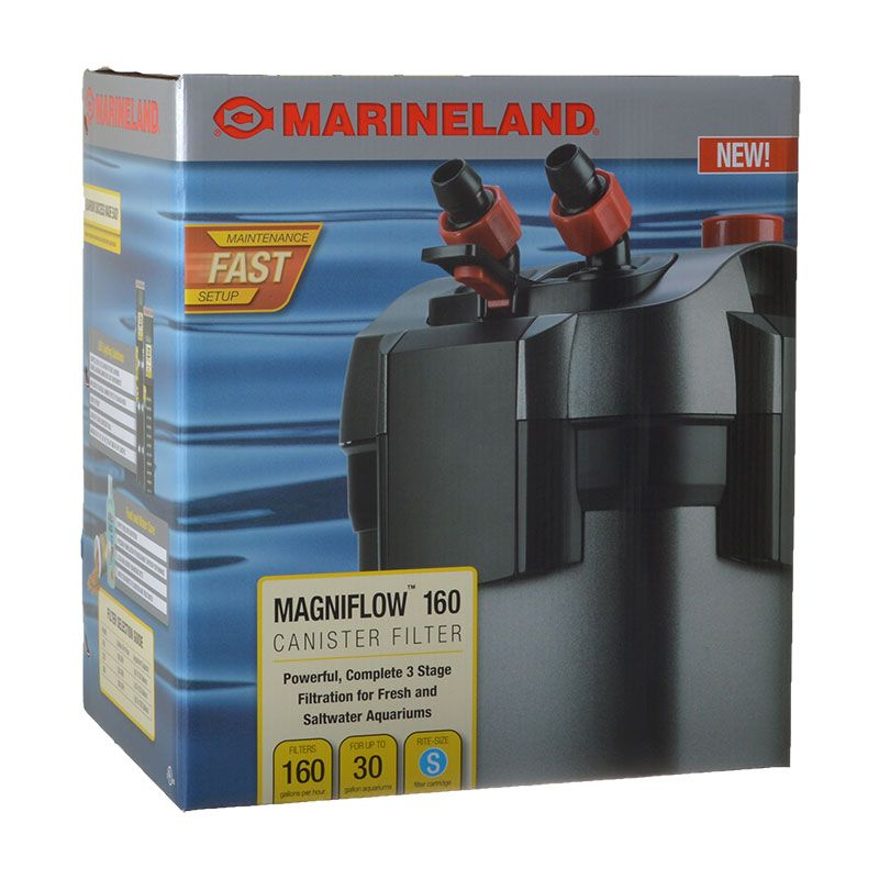 Marineland Magniflow Canister Filter Magniflow 160 Canister Filter (160 GPH - 30 Gallons) - All Pets Store