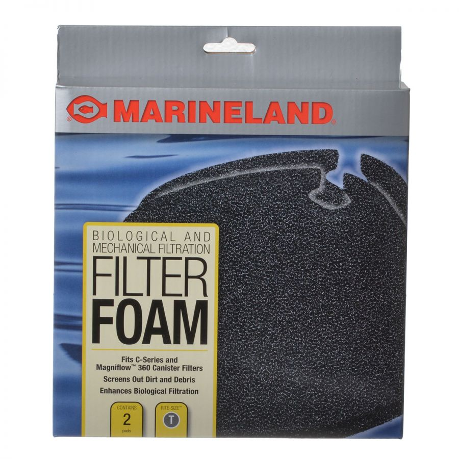 Marineland Rite-Size T Filter Foam Fits C360 (2 Pack) - All Pets Store
