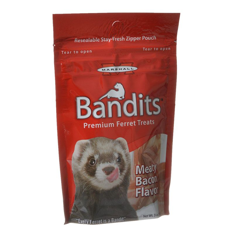 Marshall Bandits Premium Ferret Treats - Bacon Flavor 3 oz - All Pets Store