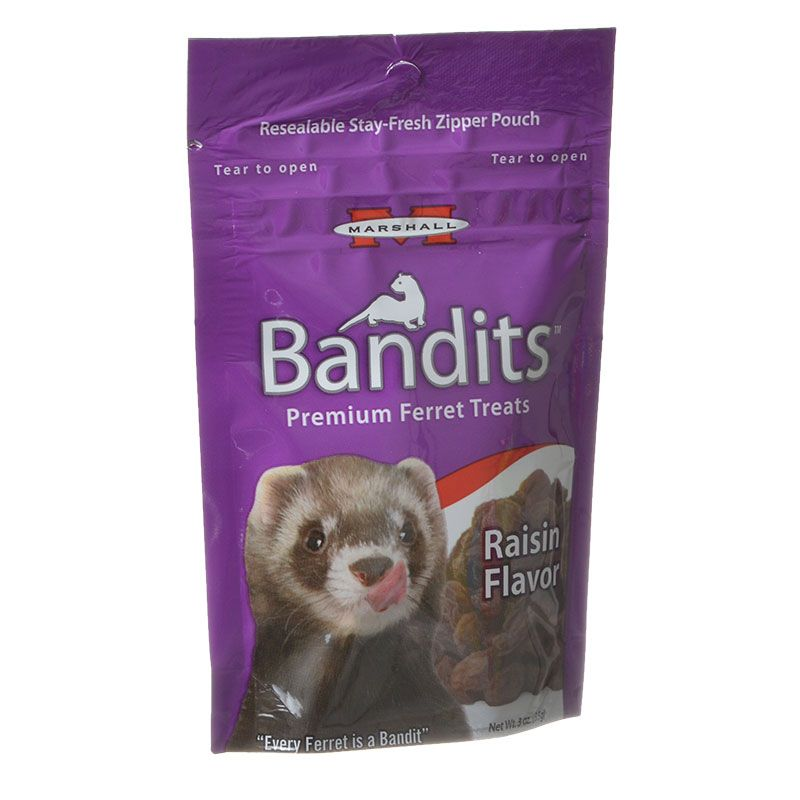 Marshall Bandits Premium Ferret Treats - Rasin Flavor 3 oz - All Pets Store