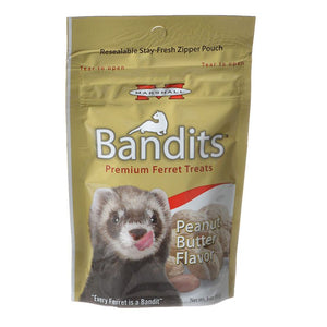 Marshall Bandits Premium Ferret Treats - Peanut Butter Flavor 3 oz - All Pets Store