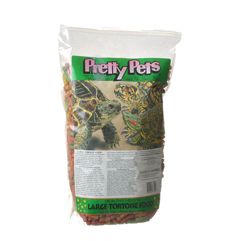 Pretty Pets Large Tortoise Food 3 lbs - All Pets Store
