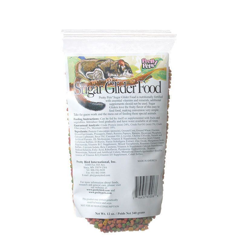 Pretty Pets Sugar Glider Food 12 oz - All Pets Store