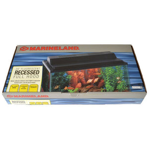 "Marineland Fluorescent Recessed Full Hood 20""L x 10""W - All Pets Store"