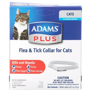 Adams Plus Breakaway Flea & Tick Collar for Cats & Kittens 1 Pack - All Pets Store