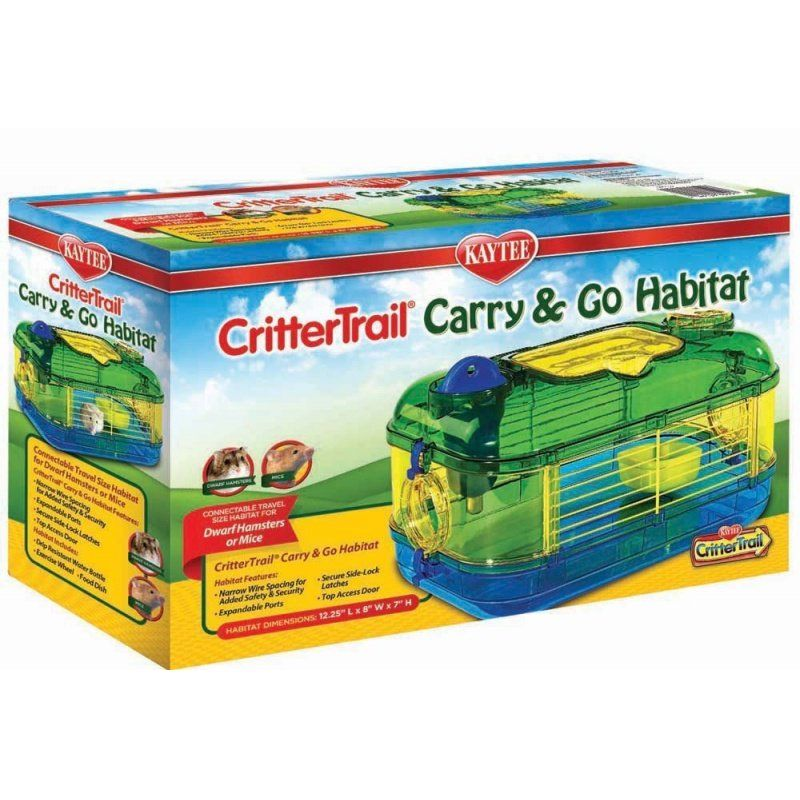 "Kaytee Critter Trail Carry & Go Habitat Mini 1 - 12.25""L x 8""W x 7""H - All Pets Store"