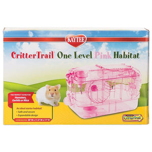 "Kaytee CritterTrail One Level Habitat - Pink 16""L x 10.5""W x 11""H - All Pets Store"