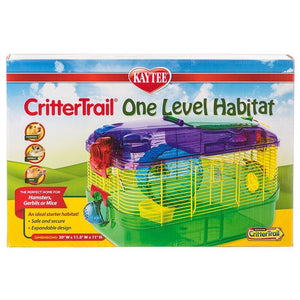 "Kaytee CritterTrail One Level Habitat - Multi Colored 16""L x 10.5""W x 11""H - All Pets Store"