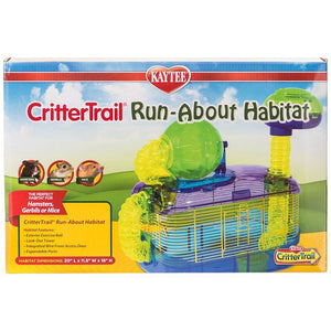 "Kaytee CritterTrail Run-About Habitat 20""L x 11.5""W x 18""H - All Pets Store"