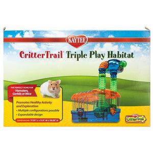 "Kaytee Critter Trail Triple Play Habitat 17.25""L x 11.5""W x 19.25""H - All Pets Store"