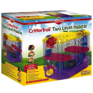 "Kaytee Critter Trail 2 Level Habitat 16""L x 10.5""W x 16""H - All Pets Store"