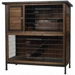 "Kaytee Premium 2 Story Rabbit Hutch Large (48""L x 24""W x 50.5""H) - All Pets Store"