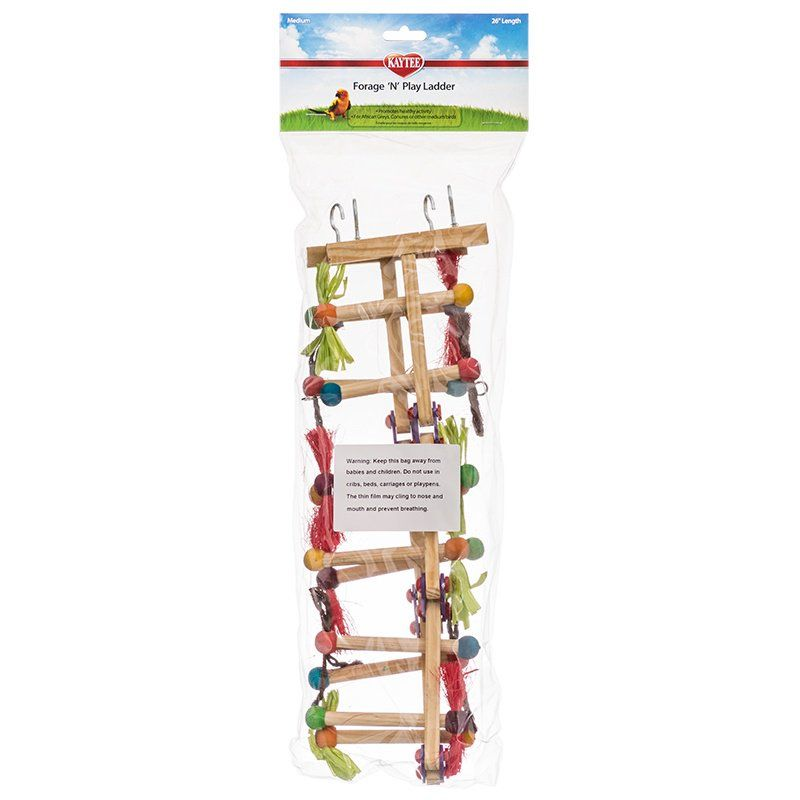 "Kaytee Avian Forage-N-Play Ladder Medium - 26"" Long - (African Greys & Conures) - All Pets Store"