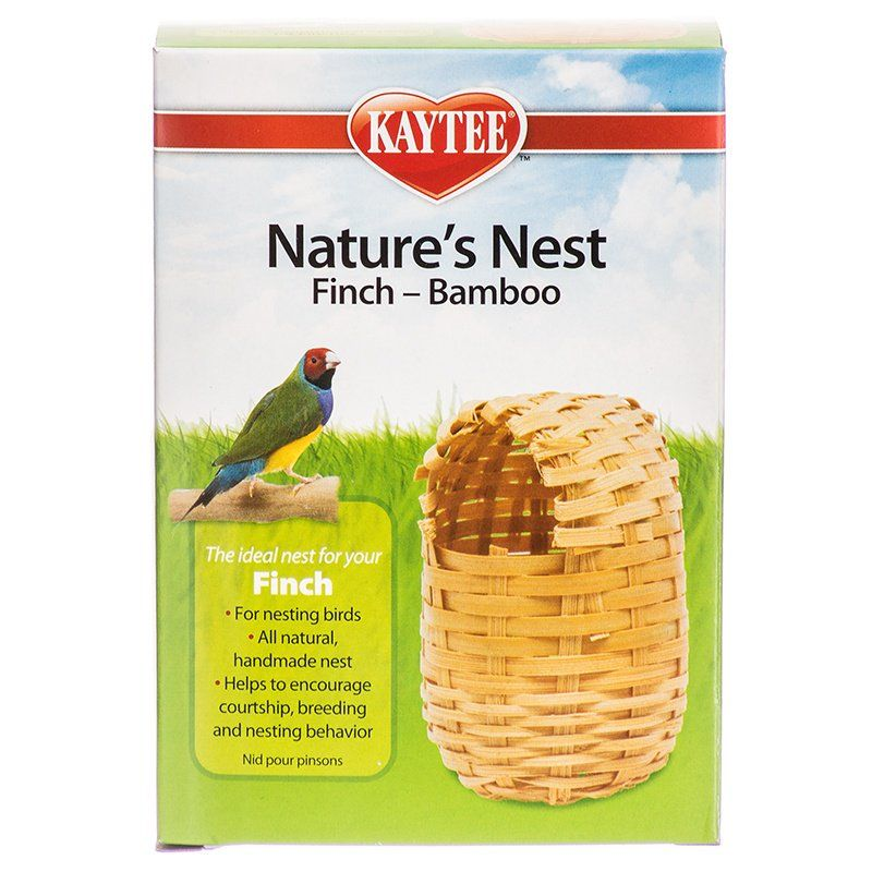 "Kaytee Nature's Nest Bamboo Nest - Finch Regular - (3.75""L x 3.75""W x 4.5""H)"