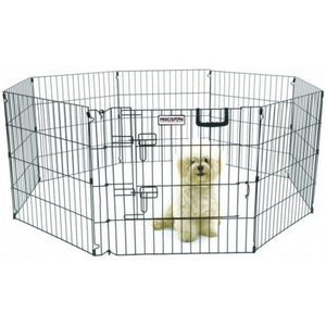 "Precision Pet Ultimate Play Yard Exercise Pen - Black UXP Model (24"" Tall - 4' x 4' Square) - All Pets Store"