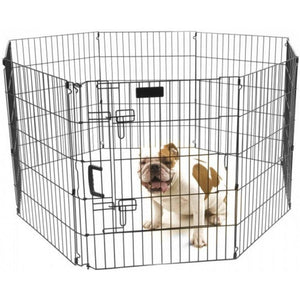 "Precision Pet Ultimate Play Yard Exercise Pen - Black UXP Model (30"" Tall - 4' x 4' Square) - All Pets Store"