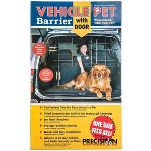 "Precision Pet Vehicle Pet Barrier with Door One Size Fits All (42-70"" Wide x 27-47"" High) - All Pets Store"