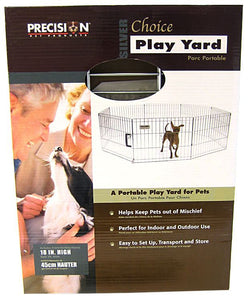 "Precision Pet Silver Choice Exercise Pen Model SXP 18"" Tall & 4' x 4' Suqare - All Pets Store"