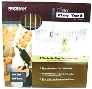 "Precision Pet Silver Choice Exercise Pen Model SXP 24"" Tall & 4' x 4' Suqare - All Pets Store"