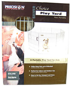 "Precision Pet Silver Choice Exercise Pen Model SXP 30"" Tall & 4' x 4' Suqare - All Pets Store"