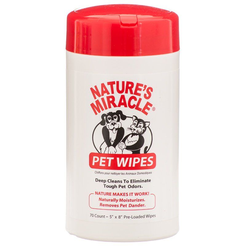 Nature's Miracle Pet Wipes 70 Wipes