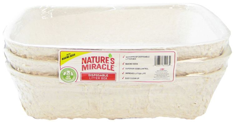 "Nature's Miracle Disposable Litter Pan Medium - 16""L x 11""W x 4""H (3 Pack) - All Pets Store"