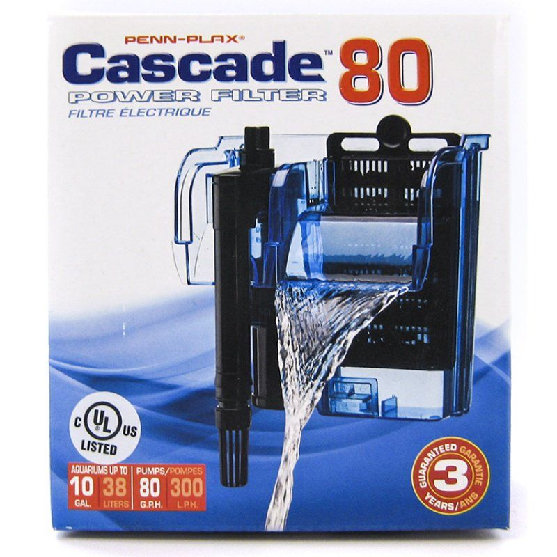 Cascade Power Filters Cascade 80 - Up to 10 Gallons (80 GPH) - All Pets Store
