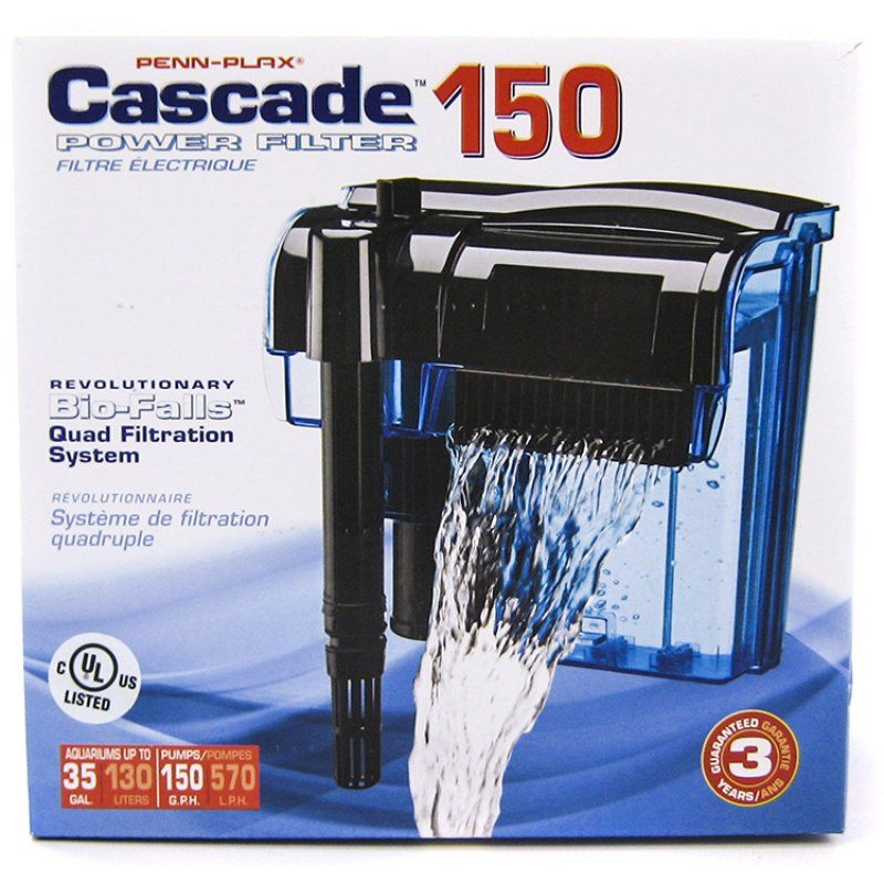 Cascade Power Filters Cascade 150 - Up to 35 Gallons (150 GPH) - All Pets Store