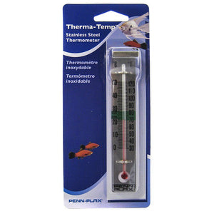 Penn Plax Therma-Temp Sainless Steel Thermometer Stainless Steel Thermometer - All Pets Store
