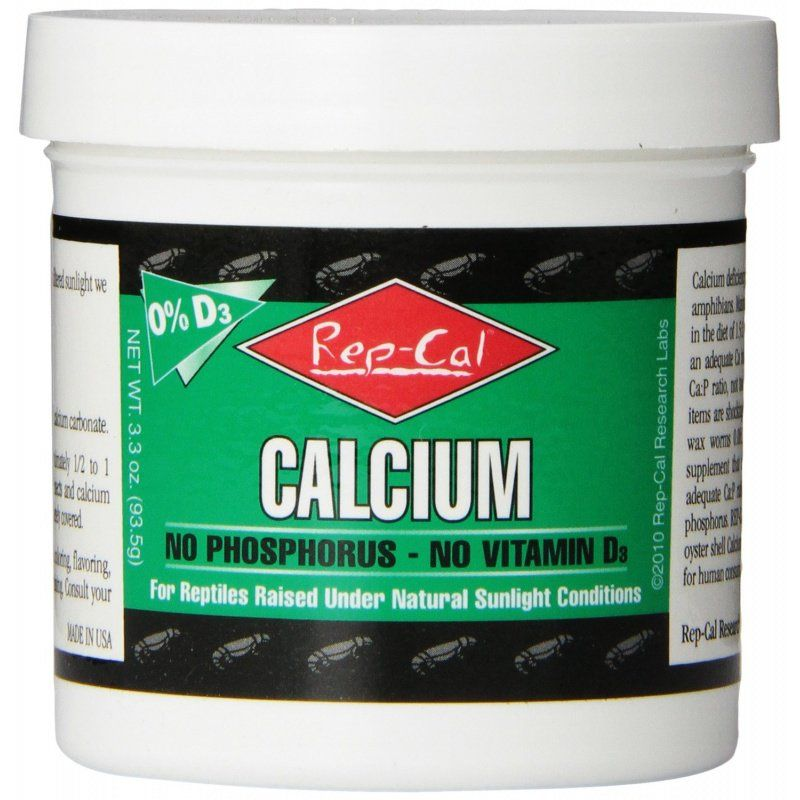 Rep Cal Phosphorus Free Calcium without Vitamin D3 - Ultrafine Powder 3.3 oz - All Pets Store