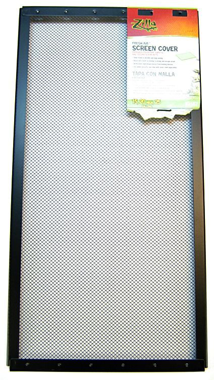 "Zilla Fresh Air Fine Mesh Screen Cover 15-20 Gallon Tank (24"" Long x 12"" Wide) - All Pets Store"