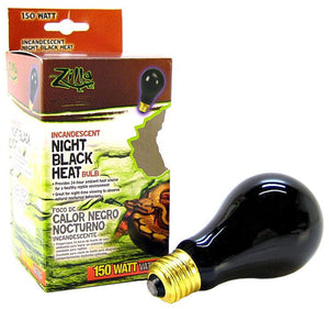 Zilla Night Time Black Light Incandescent Heat Bulb 150 Watts - All Pets Store